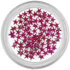 Decorațiuni de unghii - strasuri roz închis, stele