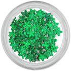 Strasuri unghii - flori, verde-smarald