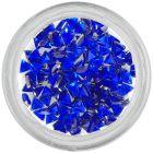 Strasuri unghii - triunghi, albastru-regal