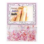 Decorațiuni roz pentru unghii - fulgi