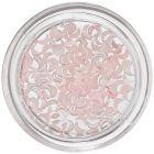 Decorațiuni perlate în formă de semilună - roz deschis