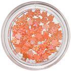 Flori mici perlate - decorațiuni nail art, portocalii