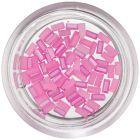 Dreptunghiuri perlate, pentru unghii - roz