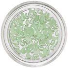 Lacrimi curbate decorative cu efect perlat - verde deschis