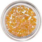 Triunghiuri pentru decorarea unghiilor - galben-portocaliu  perlat