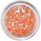 Triunghiuri perlate - decorațiuni nail art, portocalii