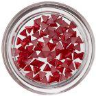 Triunghiuri decorative unghii - roșu perlat