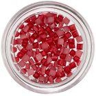 Pătrate decorative unghii - roșu perlat