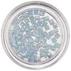 Pătrate perlate - decorațiuni nail art, bleu