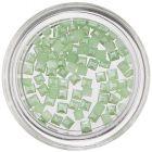 Pătrate decorative cu efect perlat - verde deschis
