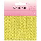 Plasă decorativă pentru nail art – galbenă