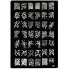 Şablon ştampilare nail art cu modele gravate - 021, XL