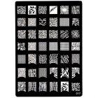 Plăcuţă metalică XL pentru ştampilarea nail art, 017